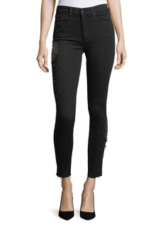Joe's Jeans The Charlie Skinny-Leg Ankle Jeans with Embellishments