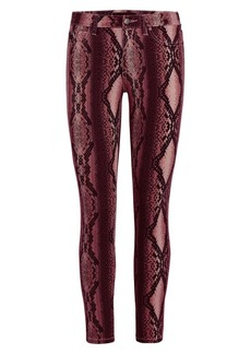 Joe's Jeans The Icon Skinny Ankle Snake-Print Pants