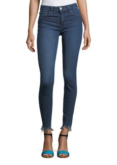 Joe's Jeans The Icon Skinny-Leg Ankle Jeans with Raw-Edge Hem