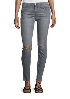 Joe's Jeans The Icon Skinny Ripped Ankle-Zip Jeans