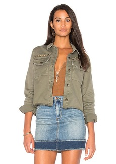 Joe's Jeans The Military Crop Jacket in Army. - size L (also in S,M)
