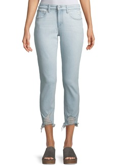 Joe's Jeans The Smith Distressed Cropped Skinny Jeans