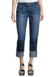 Joe's Jeans The Smith Mid-Rise Cropped Straight-Leg Jeans
