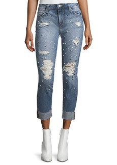 Joe's Jeans The Smith Mid-Rise Straight-Leg Jeans w/ Embellishments