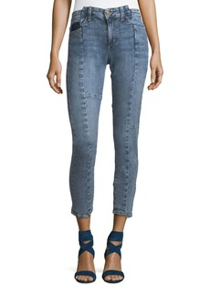 Joe's Jeans The Smith Skinny-Leg Ankle Jeans with Deconstructed Panels