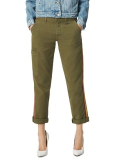 Joe's Jeans The Trouser Velvet Stripe Ankle Pants in Dark Olive