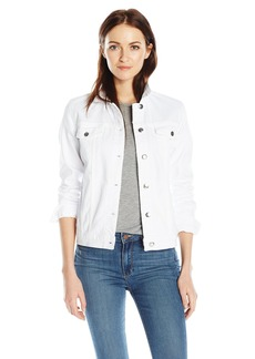 Joe's Jeans Women's Bailey Relaxed Fit White Denim Jacket  M