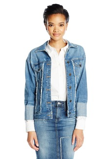 Joe's Jeans Women's Belize Frayed Detail Trucker Jacket  L