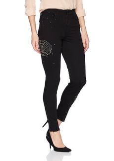 Joe's Jeans Women's Charlie Flawless Beaded High Rise Skinny Ankle Jean