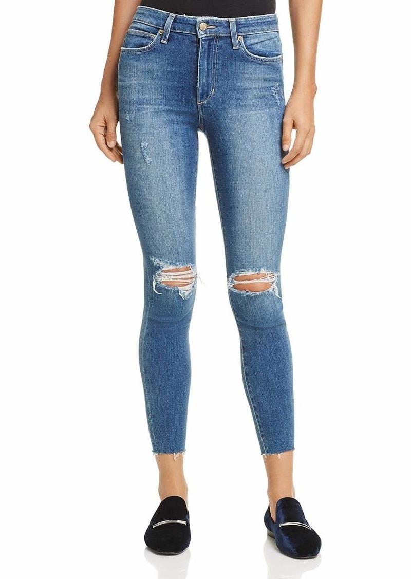 Joes Jeans Womens Charlie High Rise Stripe Skinny Ankle Jean