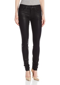 Joe's Jeans Women's Coated Icon Mid-Rise Icon Skinny Jean in Black