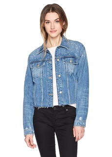 Joe's Jeans Women's Cropped Embellished Boyfriend Jacket  L