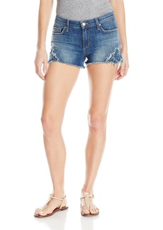 Joe's Jeans Women's Cut Off Jean Short with Denim Embroidery