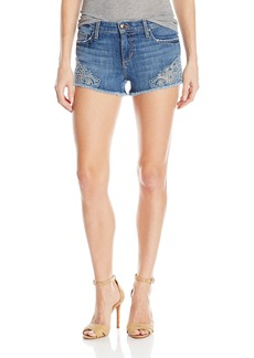 Joe's Jeans Women's Cut Off Jean Short with Embroidery