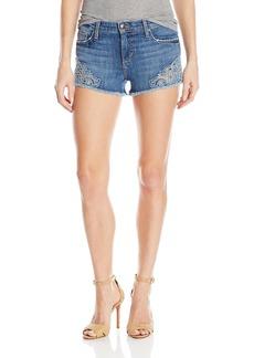 Joe's Jeans Women's Cut Off Jean Short with Embroidery