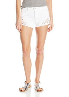 Joe's Jeans Women's Cut Off White Jean Short with Embroidery