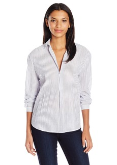 Joe's Jeans Women's Dana Striped Woven Shirt Blue/White L