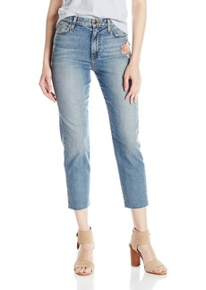 Joe's Jeans Women's Debbie High Rise Embridered Straight Crop Jean