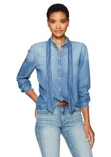 Joe's Jeans Women's Deconstructed Denim Shirt  XS