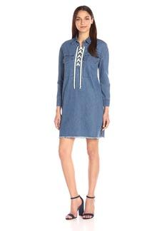 Joe's Jeans Women's Eveline Lace up Denim Dress  S