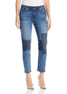 Joe's Jeans Women's Ex-Lover Boyfriend Straight Ankle Patchwork Jean  30
