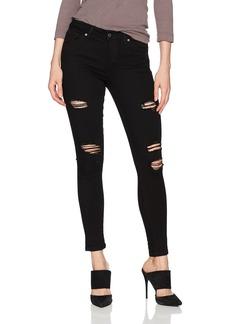 Joe's Jeans Women's Icon Midrise Skinny Ankle Black Distressed Jean