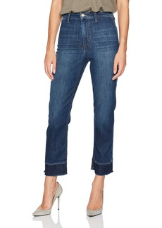 Joe's Jeans Women's Jane High Rise Straight Crop Jean with Mended Hem