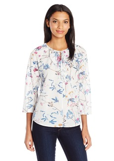 Joe's Jeans Women's Kacy Long Sleeve Floral Print Blouse  XS