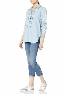 Joe's Jeans Women's Makeyla Lace Up Shirt  XS
