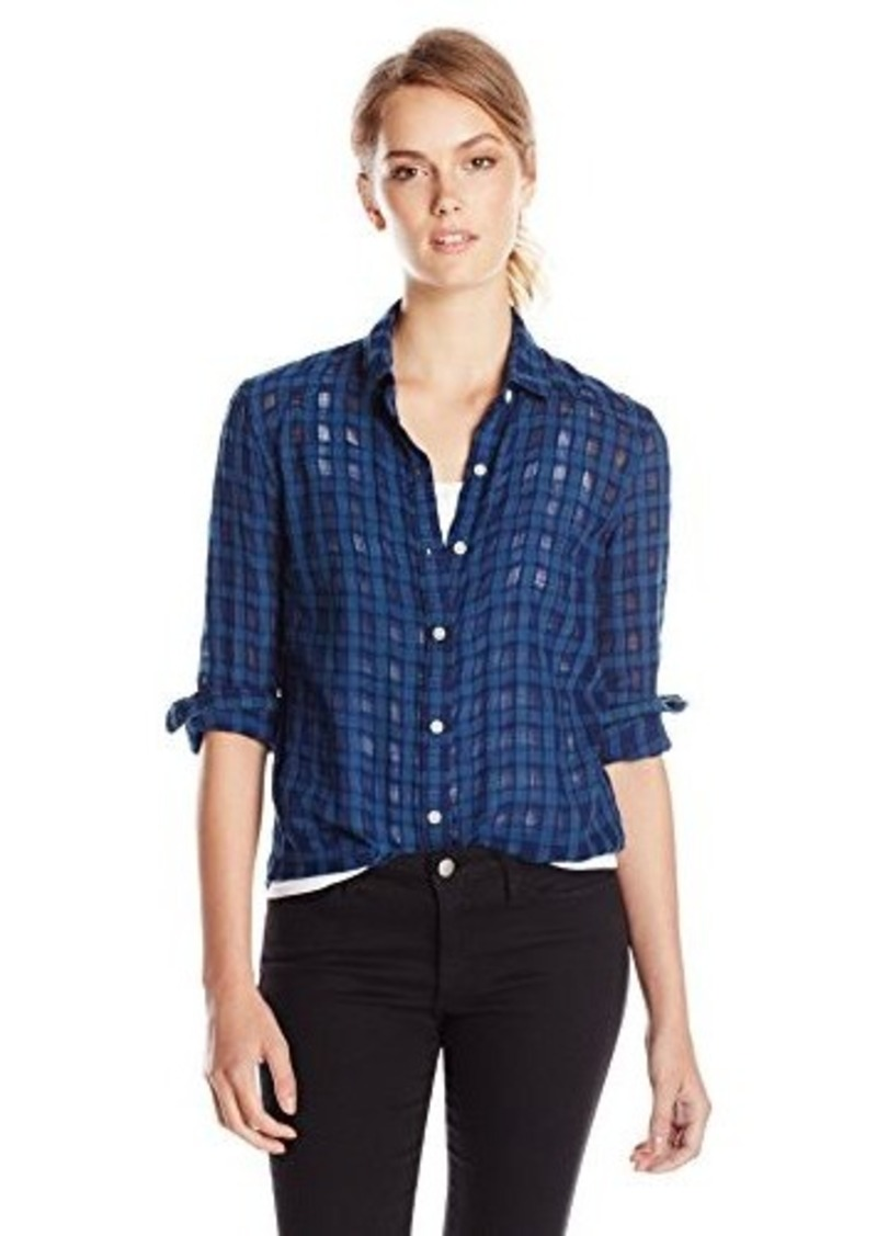 Joe 39 s jeans joe 39 s jeans women 39 s mellie jacquard shirt for Indigo denim shirt womens