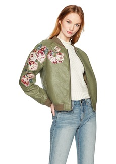 Joe's Jeans Women's PU Bomber Jacket  M