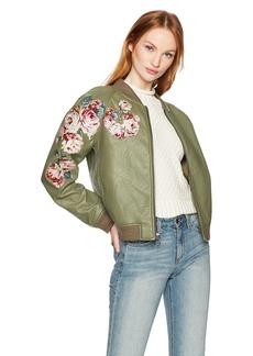 Joe's Jeans Women's Pu Bomber Jacket  S