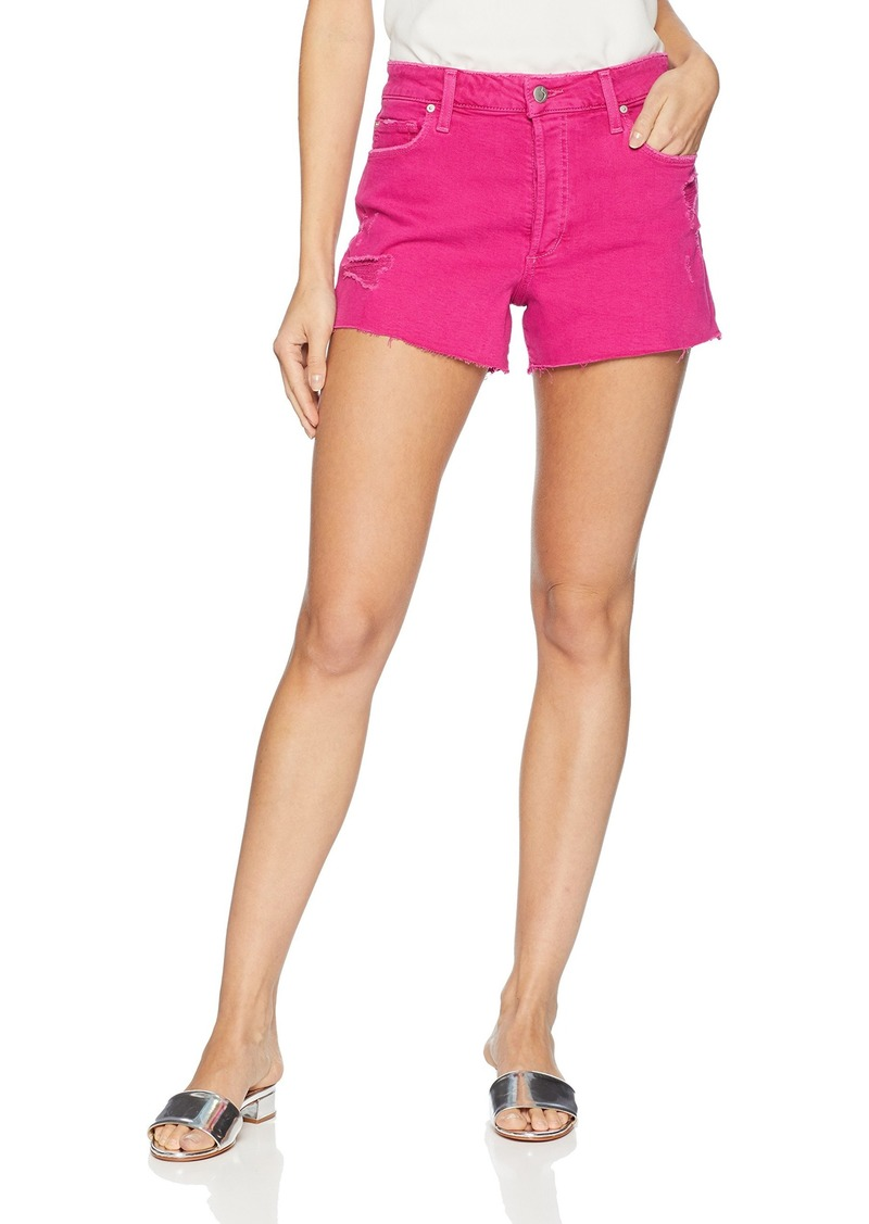 Joe's Jeans Women's Smith HIGH Rise Cut Off Jean Short hot Pink