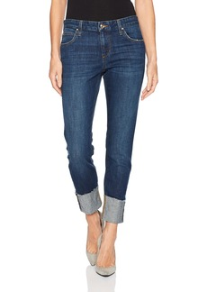 "Joe's Jeans Women's Smith Markie 4"" Cuff Hem Midrise Straight Crop Jean"