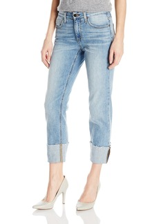 "Joe's Jeans Women's Smith Midrise Straight Crop Jean with Destroyed 4"" Hem"