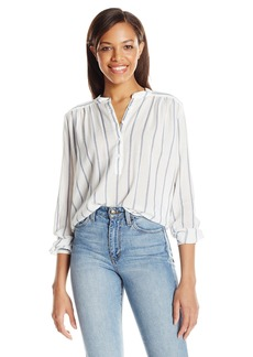 Joe's Jeans Women's Sophie Gause Stripe Blouse Blue/White S