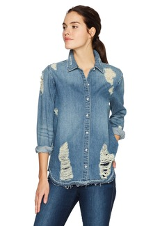 Joe's Jeans Women's Vera Denim Shirt  Stonewash M