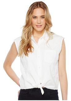 Joe's Jeans Women's Vivian White Denim Shirt Lawn XS