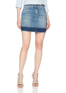 Joe's Jeans Women's Wasteland Highrise Mended Hem Jean Skirt