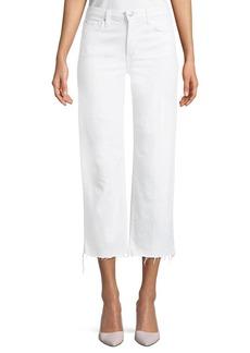 Joe's Jeans Wyatt High-Rise Wide-Leg Crop Jeans