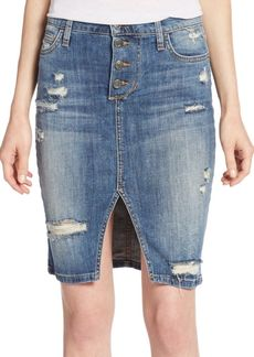Joe's Jeans Joe's Jesenia Distressed Denim Skirt