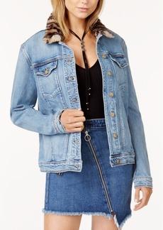 Joe's Jeans Joe's Kamryn Faux-Fur-Collar Denim Jacket