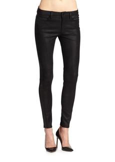 Joe's Leather Tux Skinny Ankle Jeans