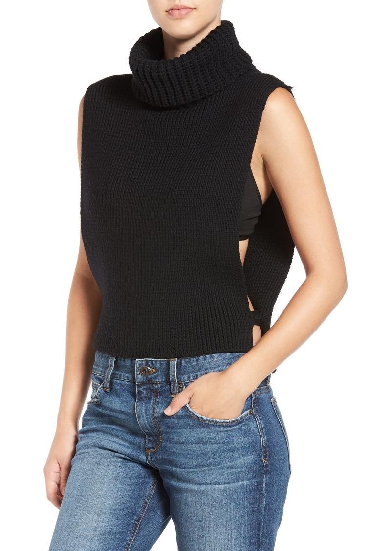 Joe's Jeans Joe's 'Marlow' Open Side Wool Turtleneck Vest