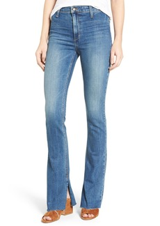 Joe's Micro Open Flare Raw Hem Jeans