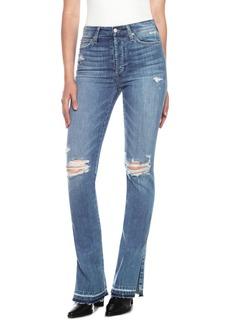 Joe's Microflare Ripped Bootcut Jeans (Midge)