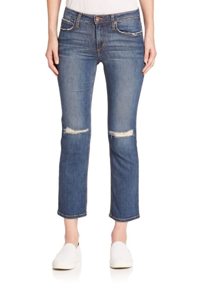 Joe's Jeans Olivia Cropped Flare Jeans with Knee Slits