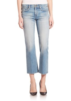 Joe's Jeans Olivia Light Flare Cropped Jeans