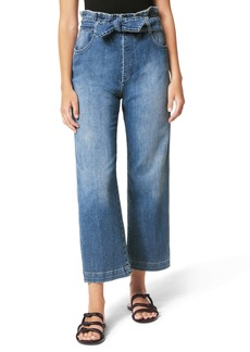 Joe's Jeans Joe's Paperbag Waist Crop Wide Leg Jeans (Busy Bee)