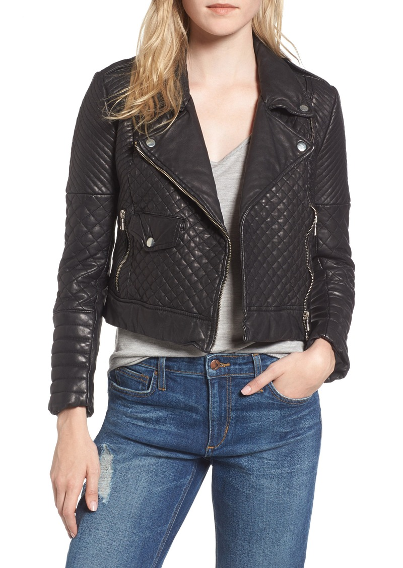 Joes Jeans Joes Quilted Leather Moto Jacket Outerwear